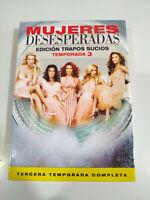 Femmes Desperate Troisième Saison 3 Complète - 6 X DVD Espagnol Anglais Itali