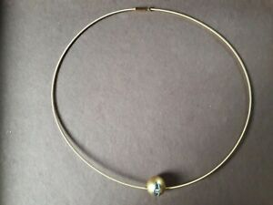 Niessing, Halsreif, Gelbgold, 2mm, 50cm, Diamant