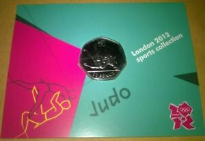 Judo olympic 50p Uncirculated bu royal mint olympic carded
