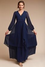 NWT Anthropologie BHLDN Flowy Maxi Quince Gown Dress By Donna Morgan Sz 4