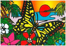 Tableau à colorier en velours - PAPILLON CREPUSCULE - Neuf