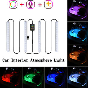 180 Degrees Wide-angle Irradiation LED RGB Car Interior Atmosphere Light 5050SMD