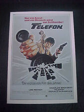 TELEFON, film card (Charles Bronson, Lee Remick, Donald Pleasence)