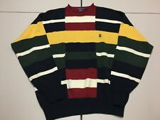 Vintage Nautica Sweater XL Knit Pullover Sailing Colorblock Striped jacket shirt