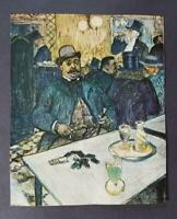 """Toulouse-Lautrec """"M. Boileau At The Cafe """" Offset Color Lithograph 1952"""