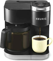 Keurig Kitchen K Duo Coffee Maker + Single Serve 12 Cup Carafe Drip Brewer Black