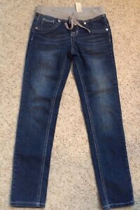 Justice Blue Jeggings Jeans Girls Size 10R Simply Low 5 Pocket