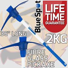 More details for pick axe 3ft fibreglass handle 2kg 4.5lb pickaxe hardened steel heavy duty picka