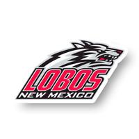 New Mexico Lobos Mascot Logo Decal Die Cut Vinyl Sticker Window Car Laptop Truck