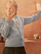 FK28 - Knitting Pattern For Girls Cardigan - Aged 6 (8, 10) Years