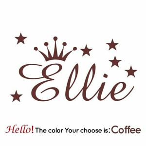 Personalized Crown Custom Name Wall Stickers For Kids Rooms Decoration Wall Art
