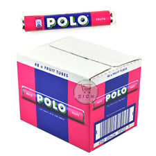 NESTLE POLO FRUITS TUBES FULL BOX OF 37g x 48 ROLLS NEW ORIGINAL SWEETS GIFT TUB