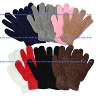 Wholesale Lot 12 Pairs Adult Chenille Winter Ski Magic Gloves Asst Color Unisex