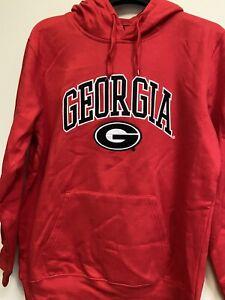 Georgia Bulldogs NCAA Genuine Stuff Men's Red Pullover Hoodie 2XL