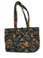 Vera Bradley Kensington Small Tic Tac Toggle Tote Brown Shoulder Bag