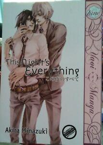 This Night's Everything by Akira Minazuki, Yaoi Manga in English! OOP!