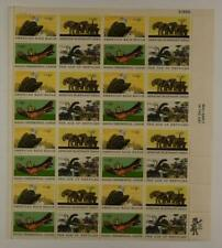 US SCOTT 1387-1390 SHEET OF 32 NATURAL HISTORY STAMPS 6 CENT FACE MNH