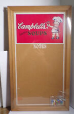 "CAMPBELL'S SOUPS ~ NOTES ~ BULLETIN BOARD ~ CORK BOARD ~ NEW ~ 23.5"" x 13.75"""