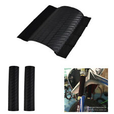 Black Plastic Front Fork Protector Shock Absorbed Guard Wrap Cover For Yamaha