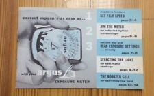 Argus L3 Expose Meter Instruction Booklet INV-P0156