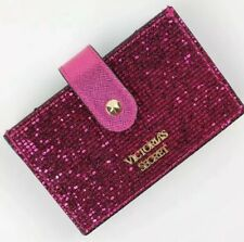 Victoria's Secret VS sparkle Accordion Card Case hot pink bling New With Tag