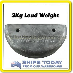 GO KART 3KG LEAD WEIGHT BALLAST M8 BOLT HOLES UNDER WEIGHT SOLUTION FREE DEL.