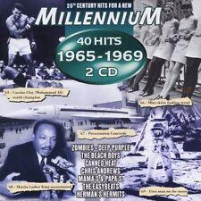 Millennium 1965-1969 (40 Hits) Beach Boys, mamma's & Papa 's, Flowerpot [CD DOPPIO]