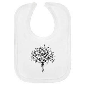 'Bunch Of Daffodils' Soft Cotton Baby Bibs (BI006776)