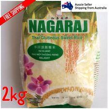 Nagaraj Thai Glutinous Sweet Sticky Rice Riz Gluant Gao Nep Malagkit 2kg