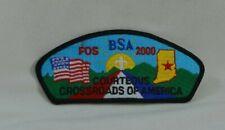 CROSSROADS OF AMERICA COUNCIL COURTEOUS 2000 BOY SCOUTS  SHOULDER PATCH
