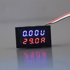 DC 0-30V 10A Voltmeter Ammeter Blue+Red LED Panel Amp Digital Volt Gauge meter O