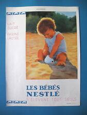 PUBLICITE DE PRESSE NESTLE BéBé S'ELEVE TOUT SEUL ILLUSTRATION WILQUIN AD 1932