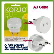 Korjo Travel Adaptor for Europe Italy & Switzerland From Australia Zealand