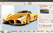 Illustrator drawing Software Disc vector graphics  Windows Inskcape not corel