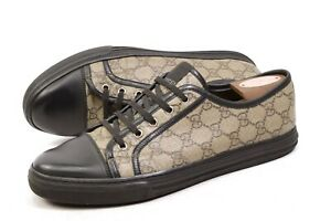 GUCCI GG Supreme Canvas Low Top Sneakers 8G UK / US8.5 /42 shoes mens 309462