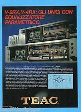 QUATTROR983-PUBBLICITA'/ADVERTISING-1983- TEAC V-2RX , V-4RX