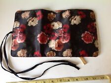 H&M OLD ENGLISH ROSE FLORAL TRAVEL JEWELLERY MAKE UP BRUSH CLUTCH BAG CASE PURSE
