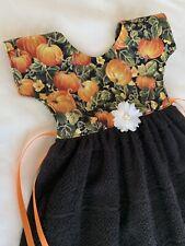 Holiday Pumpkin Apron Oven Towel Dress Orange Cotton Decor Fabric Harvest Fall N