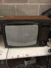 """VINTAGE  Hitachi  Instavision 22"""" TELEVISION Retro Colour TV Film Prop Museum"""