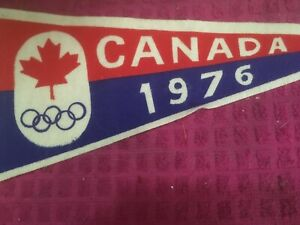 1976 Souvenir Pennant MONTREAL Canada 1976 Olympics Red White Blue FAST SHIPPER