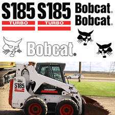 Bobcat S185 Turbo Skid Steer Set Vinyl Replacement Decal Sticker + APPLICATOR