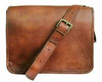 Men's Vintage Brown Leather Crossbody Messenger Satchel Shoulder Laptop Bag