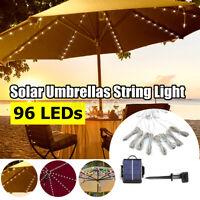 LED Solar Light Outdoor Garden Patio Table Umbrella Parasol Decor String Light