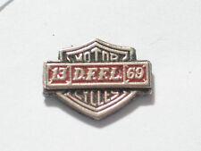 Vintage DFFL Motorcycle Pin Mini Shield Badge Silvertone ***