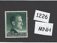 #1226     MNH 1943 stamp 84 Gr + 1 ZL / Adolph Hitler / Poland / Third Reich