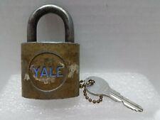 Vintage Brass YALE Padlock with Original Key - USA Made - Tested!