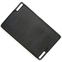 """Evelyne Reversible Cast Iron Grill Griddle Stovetop Oven Camping 18"""" x 10.25"""""""