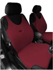 2 Dark Red Sul Davanti Gilet Car Seat Covers per FIAT 500