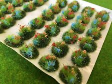 Serious-Play - Orange, Red and Light Blue Flowers Static Grass Tufts