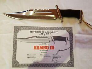 Rambo III Messer Original by Gil Hibben Nr. 195 von 350